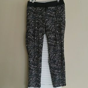 Floral Ankle Pants